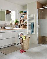 Sèche-serviettes eau chaude Blyss Aspley blanc 485W