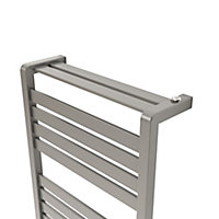 Sèche-serviettes eau chaude GoodHome Loreto vertical gris/argent 344 W