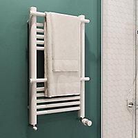 Sèche-serviettes eau chaude GoodHome Solna vertical blanc mat 260 W