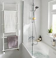 Sèche-serviettes eau chaude GoodHome Solna vertical blanc mat 631 W