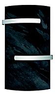 Sèche serviettes à inertie sèche pierre naturelle Mazda Dual Kherr Curve silex dark 1000W