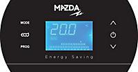 Sèche serviettes à inertie sèche pierre naturelle Mazda Dual Kherr Curve silex pearl 1000W