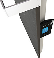Sèche serviettes à inertie sèche pierre naturelle Mazda Dual Kherr Smart ardoise 1000W