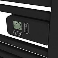 Sèche-serviettes électrique GoodHome Duala Noir 600W