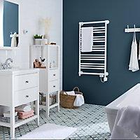 Sèche-serviettes électrique GoodHome Hyana blanc 500W