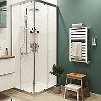 Sèche-serviettes électrique GoodHome Loreto blanc 350W