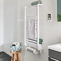 Sèche-serviettes électrique GoodHome Loreto blanc 500W