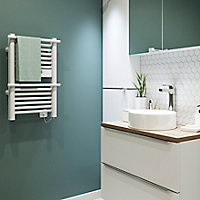 Sèche-serviettes électrique GoodHome Solna blanc 350W