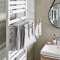 Séchoir à linge chromé GoodHome Muromi pour sèche-serviettes
