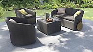 Salon bas de jardin Nova Balcony 2 fauteuils + table basse