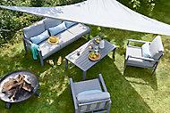 Salon de jardin bas Blooma Nymark aluminium gris 5 personnes