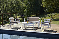 Salon de jardin bas Click clack blanc 4 personnes
