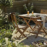 Salon de jardin Denia - Table + 2 chaises