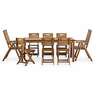 Salon de jardin Denia - Table + 4 chaises + 2 fauteuils