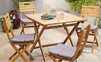 Salon de jardin Denia - Table + 4 chaises