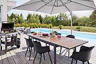 Salon de jardin Morlaix Annecy - Table + 6 fauteuils