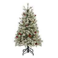 Sapin artificiel Fairview à LED, 4 pieds h.122 cm