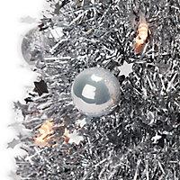 Sapin de table LED argenté 50 cm