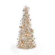 Sapin de table LED champagne 50 cm