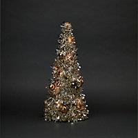Sapin de table LED champagne 50 cm