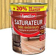 Saturateur bois extérieurs incolore Syntilor 5L + 20% gratuit