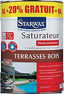 Saturateur haute protection terrasse en bois Teck Starwax 5L + 10% gratuit