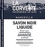 Savon noir La Corvette Savonnerie du midi à l'huile de lin parfum amande 5L