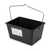 Seau à peinture plastique noir 35 x 25 cm 7L