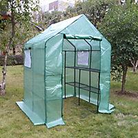 Serre souple 2,1m² + 8 étagères