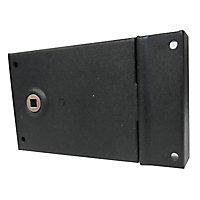Serrure verrou en applique Diall noir 11 x 8 cm