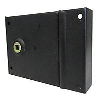 Serrure verrou en applique Diall noire 8 x 8 cm