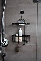 Serviteur de douche filaire noir Wenko Classic