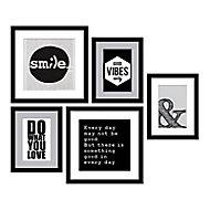 Set d'images encadrées Phrases anglaises 54 x 49 cm