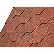 Shingle hexagonal CASTORAMA rouge 1m²