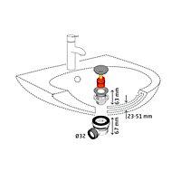 Siphon 32mm XS Pure et bonde quick-clac Wirquin