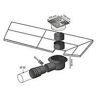 Siphon de sol 100x100mm Wirquin