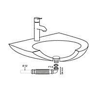 Siphon sans garde d'eau gain de place blanc 32mm Wirquin