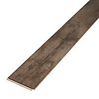 Sol stratifié à clipser Bannerton fonce 8 mm - L.129 x l.16 cm