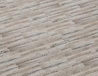 Sol stratifié à clipser Camiri décor chêne gris 8 mm + 2 mm de sous-couche intégrée - L.138 x l.19.3 cm