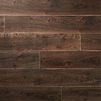 Sol stratifié à clipser Orford Chêne ambré rustique 12mm - L.138 x l.15.9 cm