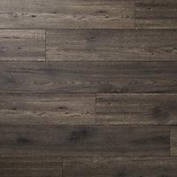 Sol stratifié à clipser Shildon Chêne vieilli taupé 10mm - L.138 x l.15.9 cm