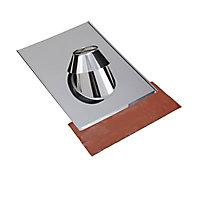 Solin en Inox 15 à 30° Tuile 130 mm SLCD Poujoulat