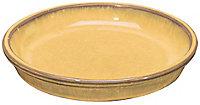 Soucoupe terre cuite jaune moutarde ø22 cm