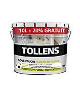Sous-couche plaques de plâtre Tollens blanc 10L + 20% gratuit