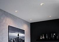 Spot à encastrer Cole LED intégrée IP44 6,5 W blanc et argent