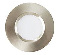 Spot à encastrer LED intégrée Colours Etana IP65 chrome brossé Ø8,5 cm
