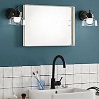 Spot LED salle de bain Corep Marko noir/laiton 5W IP44
