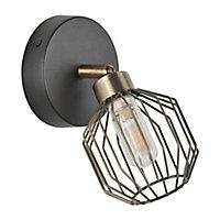 Spot salle de bain Corep Orin metal filaire G9 IP44