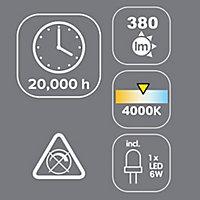 Spots à encastrer LED intégrée Colours carré argent 380 lm