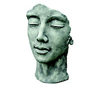 Statue Visage Femme effet pierre H. 50 cm